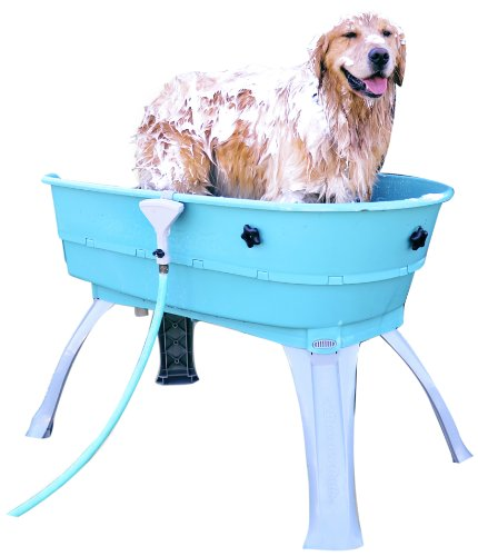 Booster Bath Elevated Pet Bathing, Teal, Large...