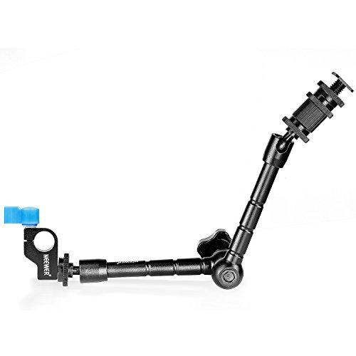 Neewer Braccio Magico Articolato in Lega di Alluminio da 30 cm con Morsetto a Barra da 15 mm per il Montaggio di Luci a LED, Monitor, Flash per Fotocamera DSLR o Rig per Film DSLR