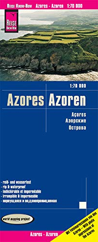Azores, 1:70.000. Mapa de carreteras impermeable. Reise Know-How.: world mapping project