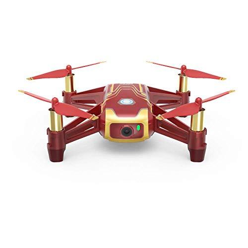 DJI Ryze Tello Mini Drone Ottima per Creare Video con EZ Shots, Occhiali VR e Compatibilit con Controller di Gioco, Trasmissione HD a 720p e Raggio di 100 Metri, Edizione Iron Man