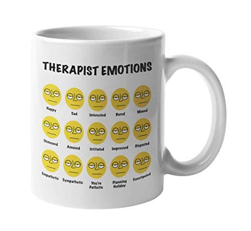 Therapist Emotions Psychiatry Humor Face Coffee & Tea Mug...