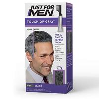 Just For Men Touch of Gray, Gray Hair Coloring for Men with Comb Applicator, Great for a Salt and...