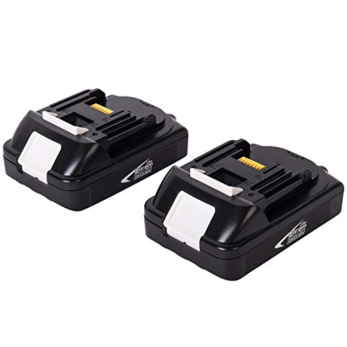 Hoepaid 2-Pack 2.0Ah 18V Lithium ion Replacement Battery Compact Pack for Makita Cordless Tools