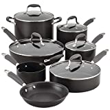 Anolon Advanced 12-pc. Hard-Anodized Nonstick Cookware Set Grey, 2.3, black