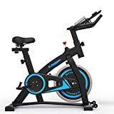 De.Pommeyeux Exercise Bike- Stationary Bike Workout Bike, Indoor Cycling Bike with LCD Display for Home Workout Bike Training