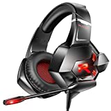 RUNMUS Gaming Headset Xbox One Headset PS4 Headset with 7.1 Surround Sound Noise Cancelling Mic &...