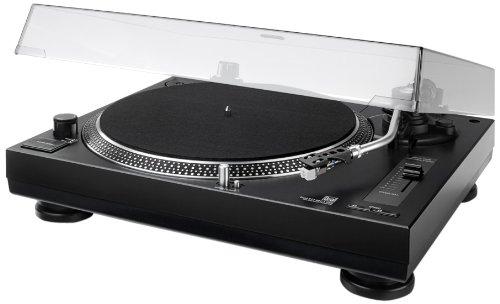 Dual DTJ 301.1 USB DJ-Plattenspieler (33/45 U/min, Pitch-Control, Magnet-Tonabnehmer-System, Nadelbeleuchtung, USB Kabel) schwarz