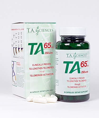 T.A. Sciences | TA-65 Supplement | 1x90 Capsules | 250 U |Free Extra Strength Fat Burner 5