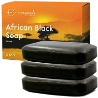 O Naturals African Black Soap Acne Problematic Skin Bar Organic Ingredients Luxurious Texture Triple...