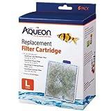 Aqueon 06088 Filter Cartridge, Large, 6-Pack