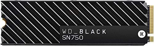 WD Black SN750 - SSD interne NVMe hautes performances pour le gaming avec dissipateur thermique - 1 To