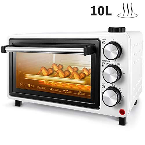 Mini forno FREIHAFEN 10L con funzione vapore e pratico vassoio raccogli briciole, Forno per pizza,...