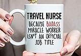DKISEE - Taza de viaje para enfermeras de viaje, ideal para enfermeras de viaje, regalo de Navidad para enfermeras de viaje, regalo de vacaciones para enfermera de viaje O339, 325 ml