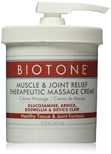 Biotone Biotone Muscle and Joint Relief Therapeutic Products Massage Creme, 16 Ounce