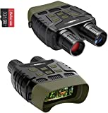 Coolife Night Vision Goggles, Night Vision Binoculars, Long Distance Night Vision Infrared for Day and Night, HD 1280x960P Video and Photo with 32GB Card, TFT LCD for Spotting, Hunting, Surveillance