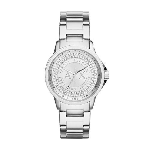 Armani Exchange Damen Analog Quarz Uhr mit Edelstahl Armband AX4320