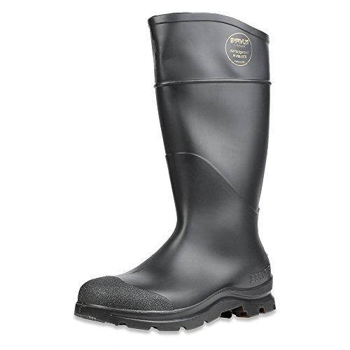 Servus Comfort Technology 14' PVC Steel Toe Men's Work Boots, Black - Steel Toe, 8