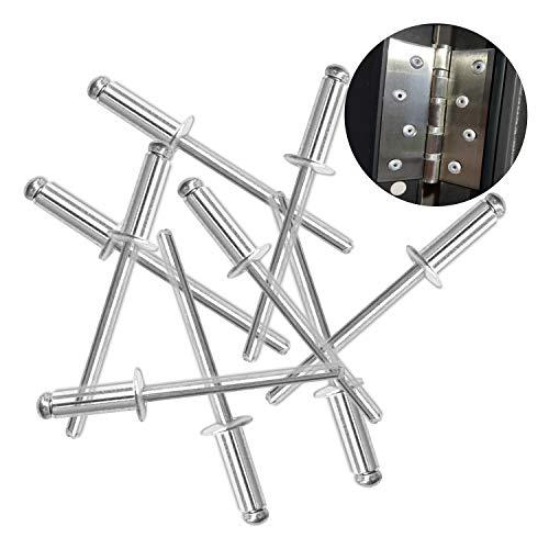 Hub's Gadget 80pcs 3/16 x 3/4 Inch (4.8 x 20mm) Aluminum...