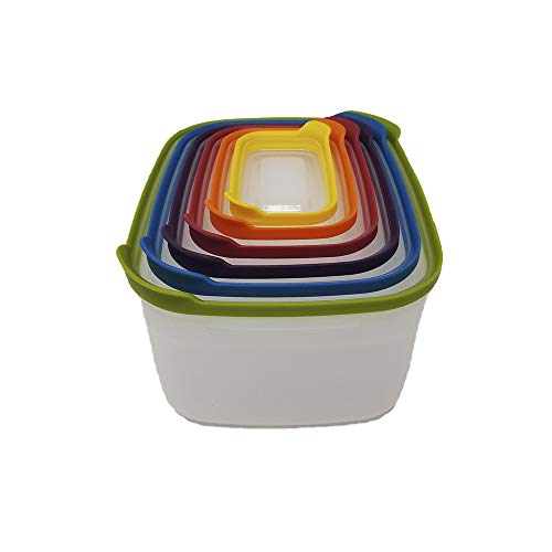 12-Piece Nesting Food Storage Container Set, Space Saver, Kitchen...