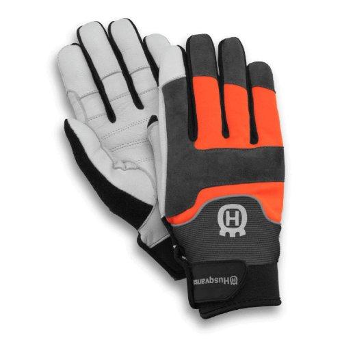 Husqvarna - Guanti tecnici in pelle di capra, protezione antitaglio classe 1 (20 m/s), ideali per...