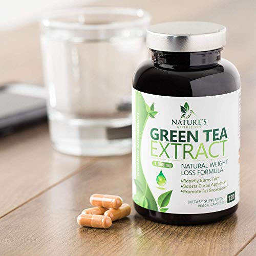 Green Tea Extract 98% Standardized EGCG Weight Loss 1000mg - Boost Metabolism for Healthy Heart - Antioxidants & Polyphenols - Gentle Caffeine, Fat Burner Pills, Made in USA - 120 Capsules 7