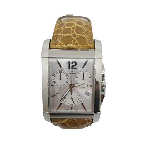 Orologio uomo cronografo Lorenz 025479CC Swiss Made cassa rettangolare cinturino pelle