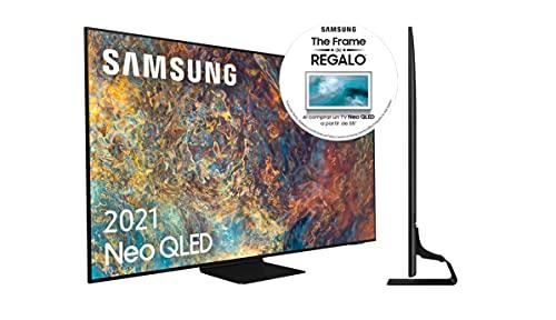 "Samsung Neo QLED 4K 2021 55QN90A - Smart TV de 55"" con Resolución 4K UHD, Quantum Matrix Technology, Procesador Neo QLED 4K con Inteligencia Artificial, Quantum HDR 2000, OTS+"