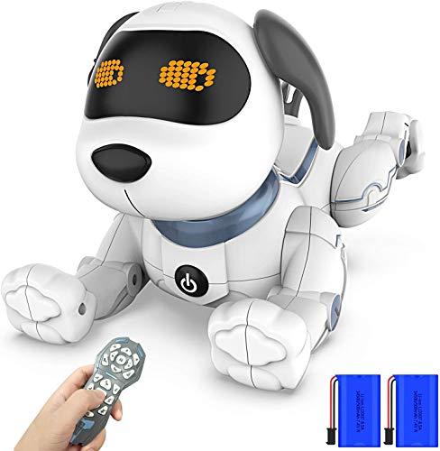okk Chien Robot Intelligent, 2020 Nouvellement Télécommande Chien avec Chanter, Danser, Parler, Jouets éducatifs Précoces Intelligents pour 3-12 Ans Garçons Filles Cadeau de Noël d'anniversaire
