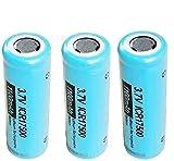 17500 3.7 V 1100 mAh Icr17500 Li-Ion Batterie rechargeable 3 Pièces