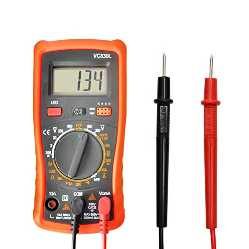 Digital Multimeter Pocket Multimeters Multi Tester Voltmeter Ammeter Ohmmeter AC/DC Ohm Volt Amp and Diode Voltage Tester Meter with Backlight LCD