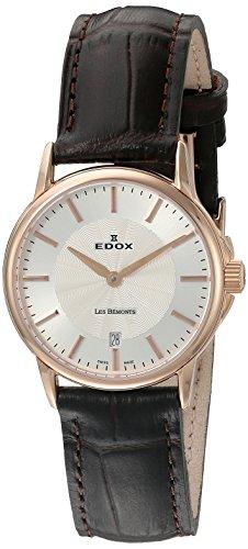 Edox Damen-Armbanduhr 57001 37R AIR Les Bemonts Analog Display Schweizer Quarz Braun