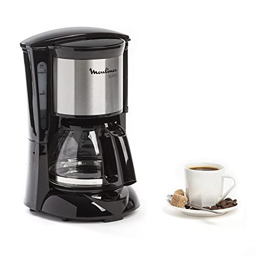 Moulinex Subito Cafetière filtre électrique, 0,6 L soit 6 tasses, Machine à café, Système anti goutte, Porte-filtre pivotant, Auto off 30 min FG150813