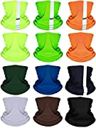 Multicolor set: a total of 12 pieces balaclava face masks in package, different colors like black, grey, yellow, green, orange, blue are provided for you to match with daily clothes, so you can always change the colors according to your everyday outf...