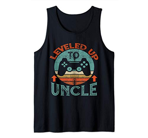 I Leveled Up To Uncle Est 2021 Vintage Promoted To Uncle Tank Top