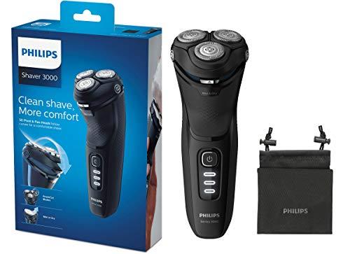 Philips Series 3000 Elektrischer Trocken- & Nassrasierer S3233/52, mit PowerCut-Klingen und ausklappbarem Präzisionstrimmer