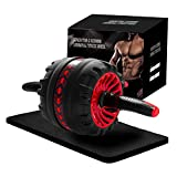 oscaurt Ab Roller Wheel, Ab Wheel Roller for Abs Core Workout Equipment for Beginner Men & Women Home Gym, Abdominal Exercise Equipment Ab Workout with Knee Pad