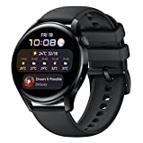 HUAWEI Watch 3 | Connected GPS Smartwatch with Sp02 and All-Day Health Monitoring | 14 Days Battery Life - Black Fluoroelastomer Strap