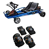 Razor Ground Force Drifter Kart and Mongoose BMX Bike Gel Knee and Elbow Pads
