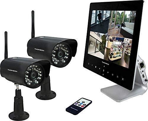Kit de cámaras de vigilancia inalámbrica Thomson 512330 con 2 cámaras 1280 X 720 Pixel 2.4 Ghz