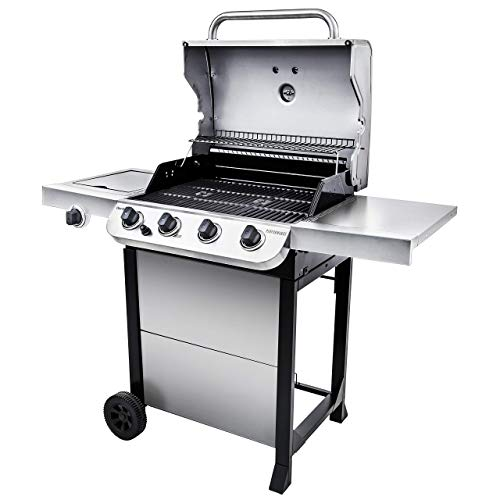 Char-Broil 463377319 Performance 4-Burner Cart Style Liquid Propane Gas Grill, Stainless Steel & Performance Grill Cover, 3-4 Burner: Large
