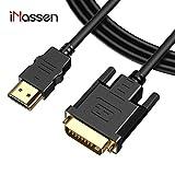 iNassen 1.8M Cavo HDMI su DVI Bidirezionale 1080P, Adattatore HDMI a DVI (24+1)...