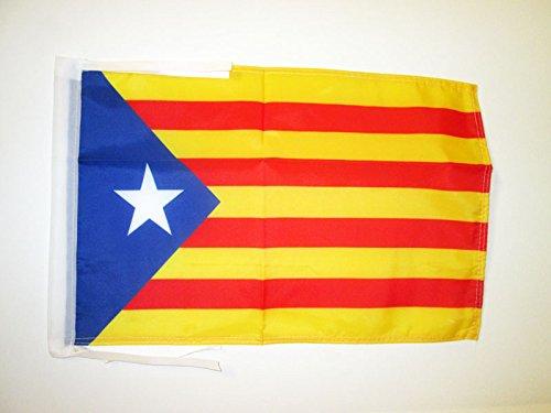 AZ FLAG Bandera de CATALUÑA ESTELADA BLAVA 45x30cm - BANDERINA CATALANA INDEPENDENTISTA – Catalunya 30 x 45 cm cordeles
