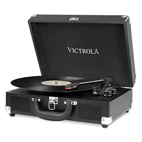Victrola VSC-550BT-BLK-EU Valigia Giradischi Vintage Bluetooth a 3 velocit - Nero
