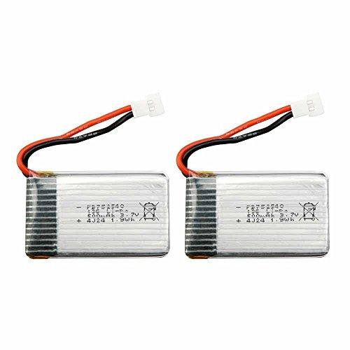 YUNIQUE 2 Pezzi Batterie Lipo Ricaricabili (3.7v, 500 mAh Lipo) per Rc Droni Quadricotteri Syma X5 X5C X5SC X5SW,...