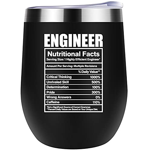 Engineer Gifts for Men Funny Nutritional Facts Label Fathers...