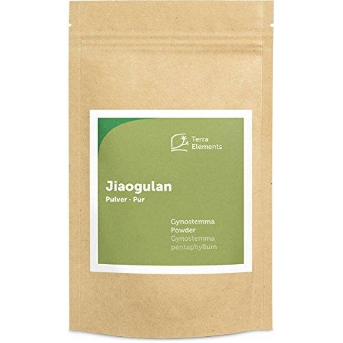 Terra Elements Jiaogulan Pulver, 100 g I Kraut der Unsterblichkeit I 100% rein I Vegan
