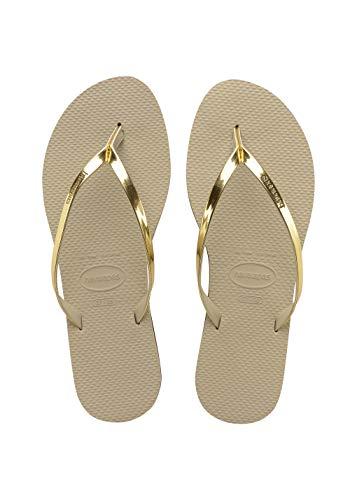 Havaianas Damen You Metallic Zehentrenner, Beige (Sand Grey/Light Golden), 41/42 EU