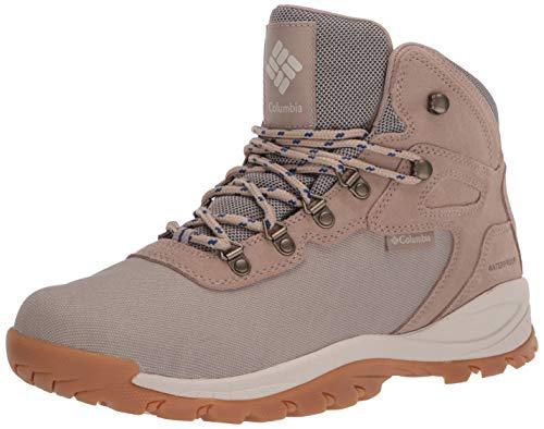 Columbia Men's Newton Ridge LT Waterproof Hiking Boots, Oxford Tan/Royal, 11 Regular US