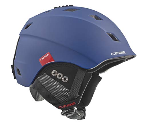 Cb Ivory, Casco da Sci Unisex Adulto, Matt Navy Red/Grey Flash Mirror, 56-58cm