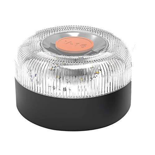 BALIZAUTO BAL012 luz de Emergencia autónoma, señal preseñalización de Peligro, homologada normativa DGT, V16, con Base imantada, Negro